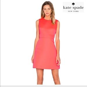 Kate Spade Sleeveless Cutout Flare Crepe Dress